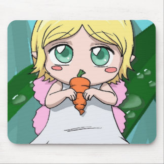 Manga carrot lover mouse pad