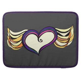 Manga coa alas del cuaderno de MacBook Pro del cor Funda Macbook Pro