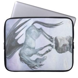 Manga coa alas oscuridad del ordenador portátil de funda portátil