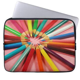 Manga colorida del ordenador portátil de la funda portátil