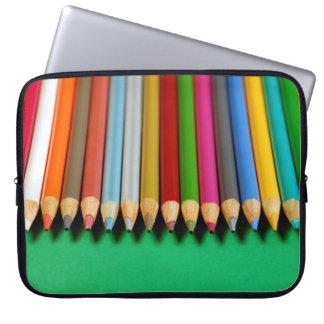 Manga colorida del ordenador portátil de la mangas portátiles