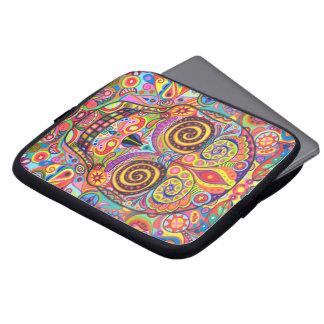 Manga colorida del ordenador portátil del cráneo d funda portátil