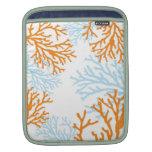 Manga coralina anaranjada y azul del ipad funda para iPads