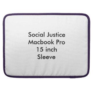 Manga de 15 pulgadas de Macbook de la justicia Fundas Para Macbook Pro