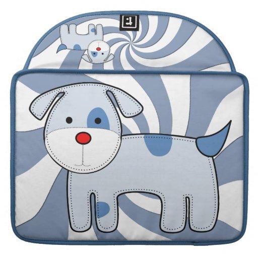 Manga de 15 pulgadas de Macbook del perrito azul d Funda Para Macbook Pro