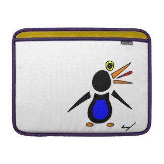 Manga de aire abstracta de Macbook del pingüino Funda Para Macbook Air
