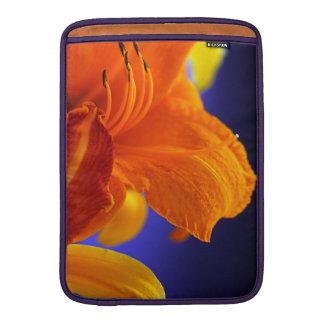 Manga de aire anaranjada de MacBook del ramo del l Fundas MacBook