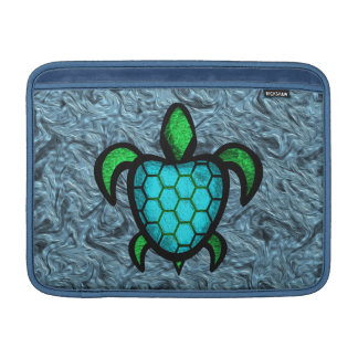 Manga de aire azul de MacBook de la tortuga de She Funda Para Macbook Air