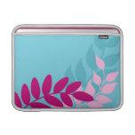 Manga de aire azul y rosada de Macbook de las vide
