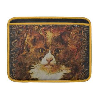 Manga de aire de KATIE MacBook del RETRATO del CAT Fundas MacBook