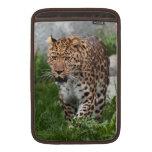 Manga de aire de Macbook de la foto del leopardo Fundas Macbook Air