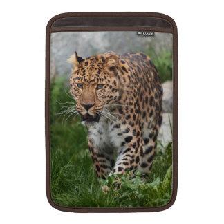 Manga de aire de Macbook de la foto del leopardo Funda Para Macbook Air