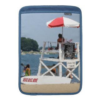 Manga de aire de MacBook de la playa del salvavida Fundas MacBook