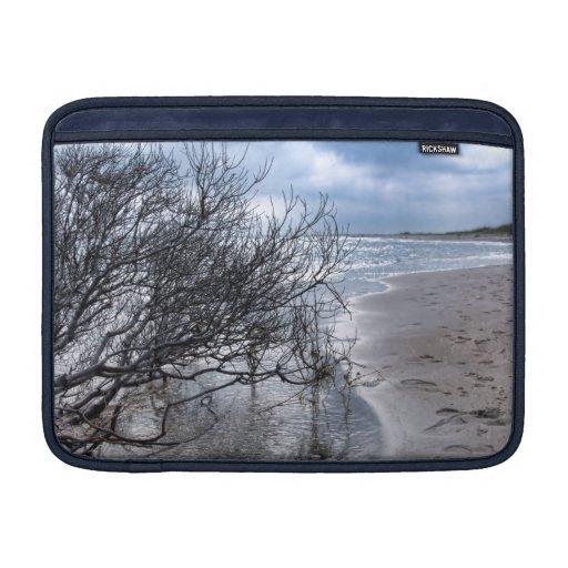 Manga de aire de MacBook de la rama de la playa Fundas Macbook Air