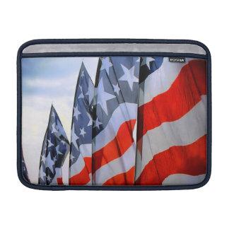 Manga de aire de MacBook de las banderas americana Funda Para Macbook Air
