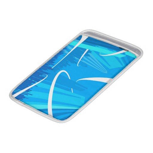 Manga de aire de Macbook de los azules claros Fundas MacBook