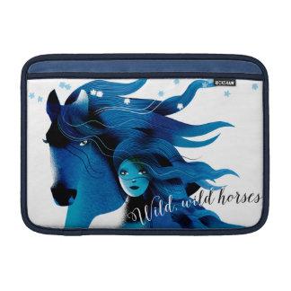 Manga de aire de Macbook de los caballos salvajes Funda Macbook Air
