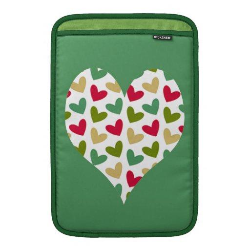 "Manga de aire de MacBook del carrito del ""corazón"" Funda Para Macbook Air"