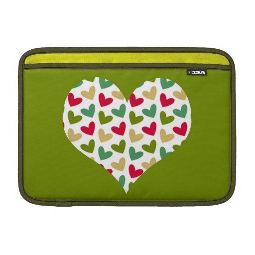 """Manga de aire de MacBook del carrito del """"corazón"""" Fundas MacBook"""