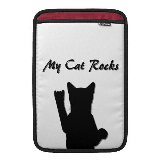 """Manga de aire de Macbook del gato de Rockin 11"""" Funda Para Macbook Air"""