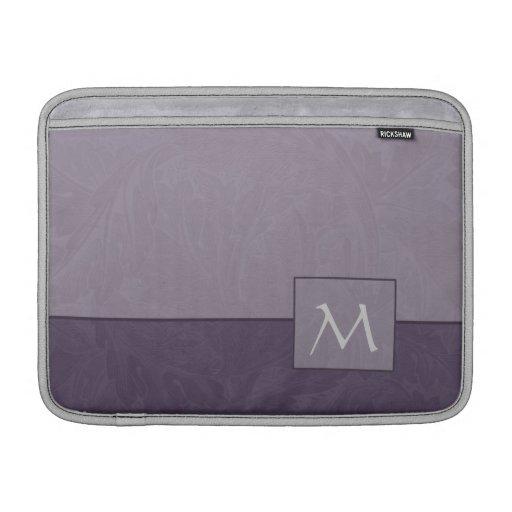 Manga de aire de MacBook del monograma de la lavan Funda MacBook