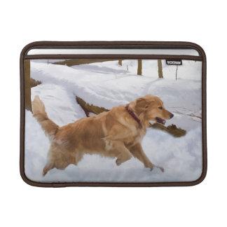 Manga de aire de Macbook del perro del golden retr Fundas MacBook