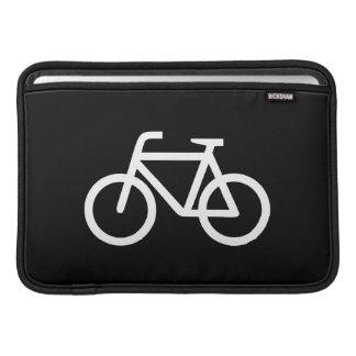 Manga de aire de MacBook del pictograma de la bici Fundas MacBook