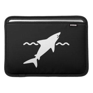 Manga de aire de MacBook del pictograma del tiburó Funda Macbook Air