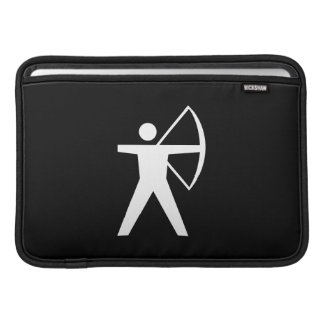Manga de aire de MacBook del pictograma del tiro a Fundas Macbook Air