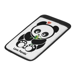 Manga de aire de Panda® Macbook del amor Fundas MacBook