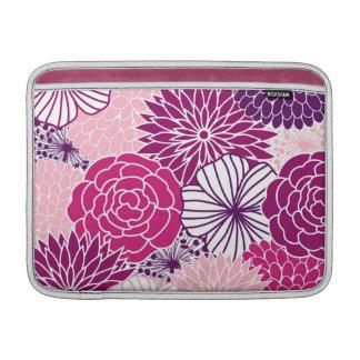 Manga de aire floral rosada y púrpura de la MOD Fundas Para Macbook Air