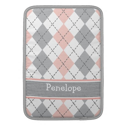 Manga de aire gris rosada de Argyle Macbook 13/11  Fundas MacBook