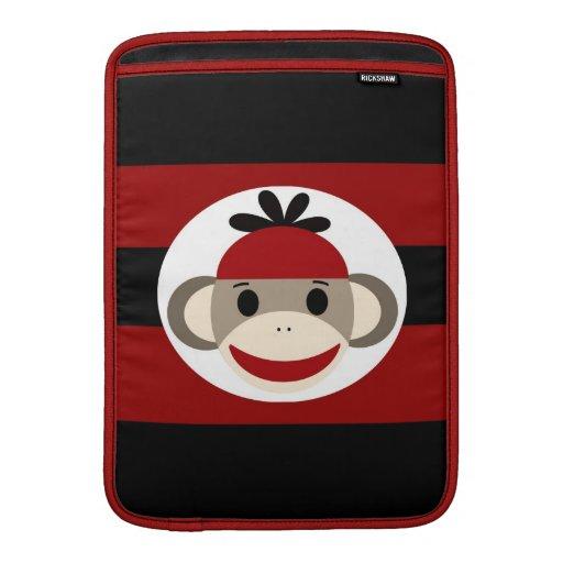 Manga de aire negra roja de MacBook del mono fresc Fundas Para Macbook Air