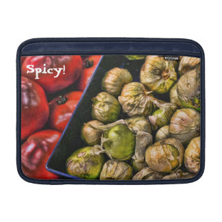 Manga de aire picante de Tomatillos MacBook Fundas Para Macbook Air
