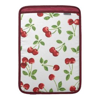 Manga de aire retra de Macbook de las cerezas Fundas MacBook