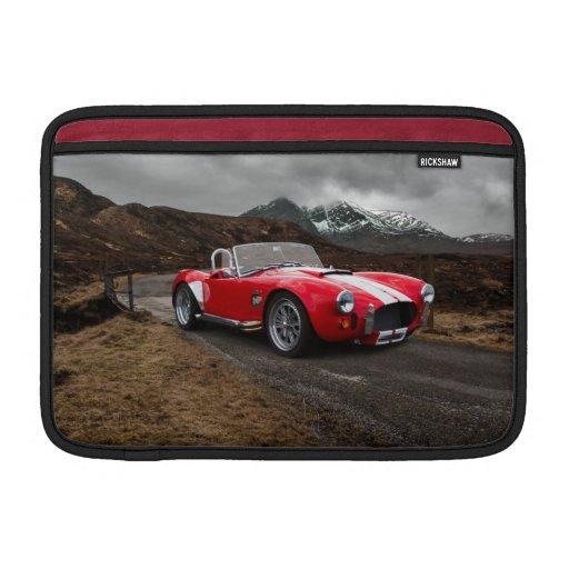 Manga de aire roja de Macbook del coche de deporte Fundas Para Macbook Air