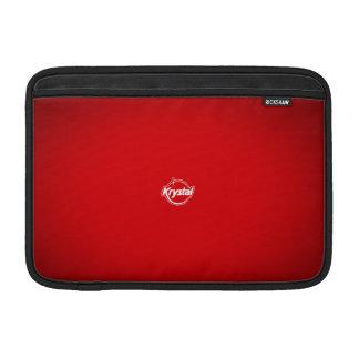 Manga de aire roja de MacBook del logotipo de Krys Fundas MacBook