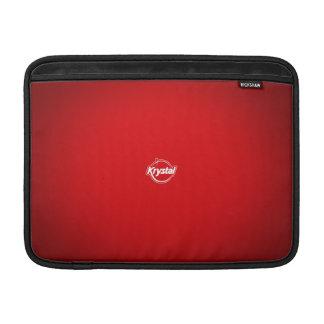 Manga de aire roja de MacBook del logotipo de Krys Funda Macbook Air