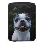 Manga de aire sonriente de Boston Terrier MacBook Funda Macbook Air