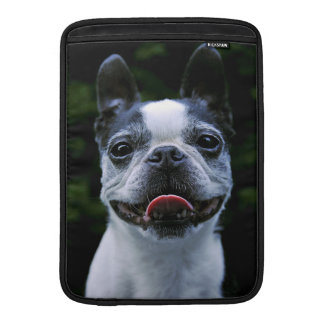 Manga de aire sonriente de Boston Terrier MacBook Funda Para Macbook Air