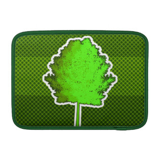 Manga de aire verde de Macbook del árbol Fundas Para Macbook Air