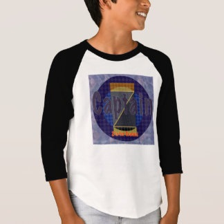 Manga de capitán Z 3/4. Camiseta del raglán de la