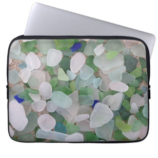 Manga de cristal del ordenador portátil del mar fundas ordendadores