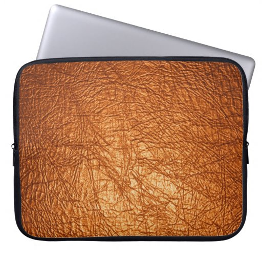 manga de cuero anaranjada del ordenador portátil d funda computadora