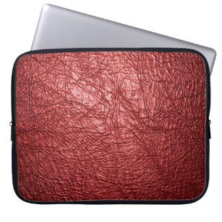 manga de cuero roja del ordenador portátil de la t fundas computadoras
