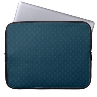 Manga de encargo azul marino del ordenador fundas portátiles