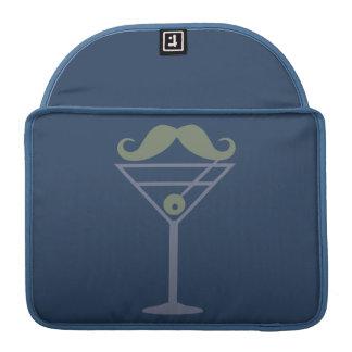 Manga de encargo de MacBook del bigote de Martini Funda Para Macbook Pro