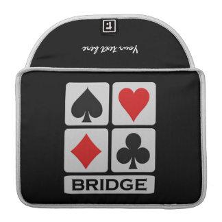 Manga de encargo de MacBook del jugador de puente Fundas Para Macbook Pro