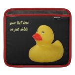 Manga de encargo del ipad del pato de la diversión funda para iPads