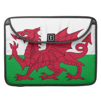 Manga de la aleta de Macbook de la bandera Galés f Funda Para Macbook Pro